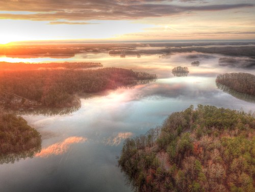ronmayhew djimavicpro lakelanier sunrise lake water sky cloud
