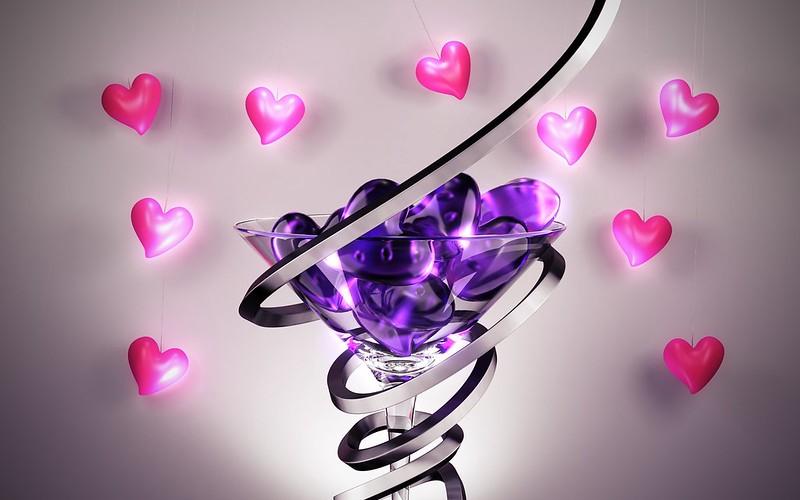 Обои форма, стакан, сердце, спираль картинки на рабочий стол, фото скачать бесплатно