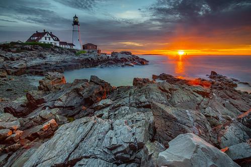 canon6d sunrise maine portland longexposure ocean