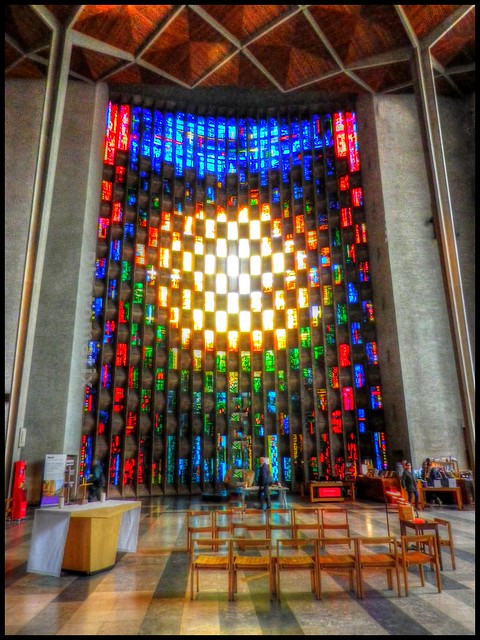 Baptistry Window Coventry Cathedral designed by John Piper.