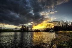 sun splitting the clouds