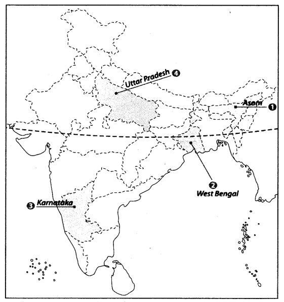 Class 10 Geography Map Work Chapter 4 Agriculture A9