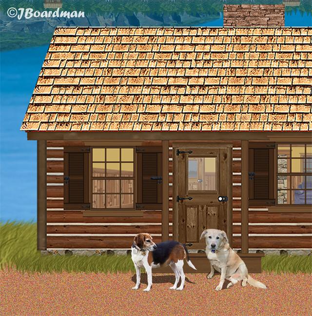 Ghost Dogs Daisy & Mattie heard every word ©Jack Boardman