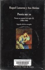 Raquel Lanseros y Ana Merino, Poesía soy yo