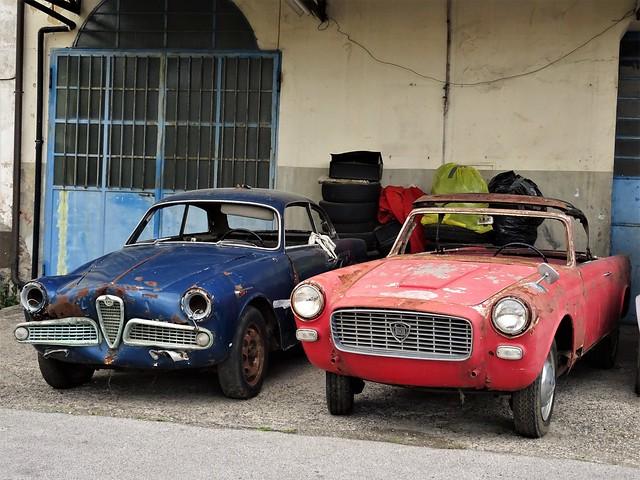 Alfa Romeo Giulietta Sprint - Lancia Appia Convertibile Vignale