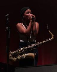 Nubya Garcia #TransitionFestival #concert #PentaxKP #40mm #NubyaGarcia #TivoliVredenburg #saxophone #sax #TenorSax #concertphotography