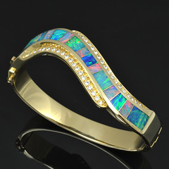 Diamond and Australian Opal Bracelet