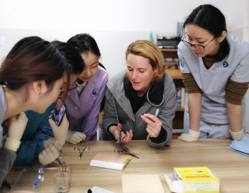 Animals Asia Senior Veterinarian Emily Drayton is training vet students