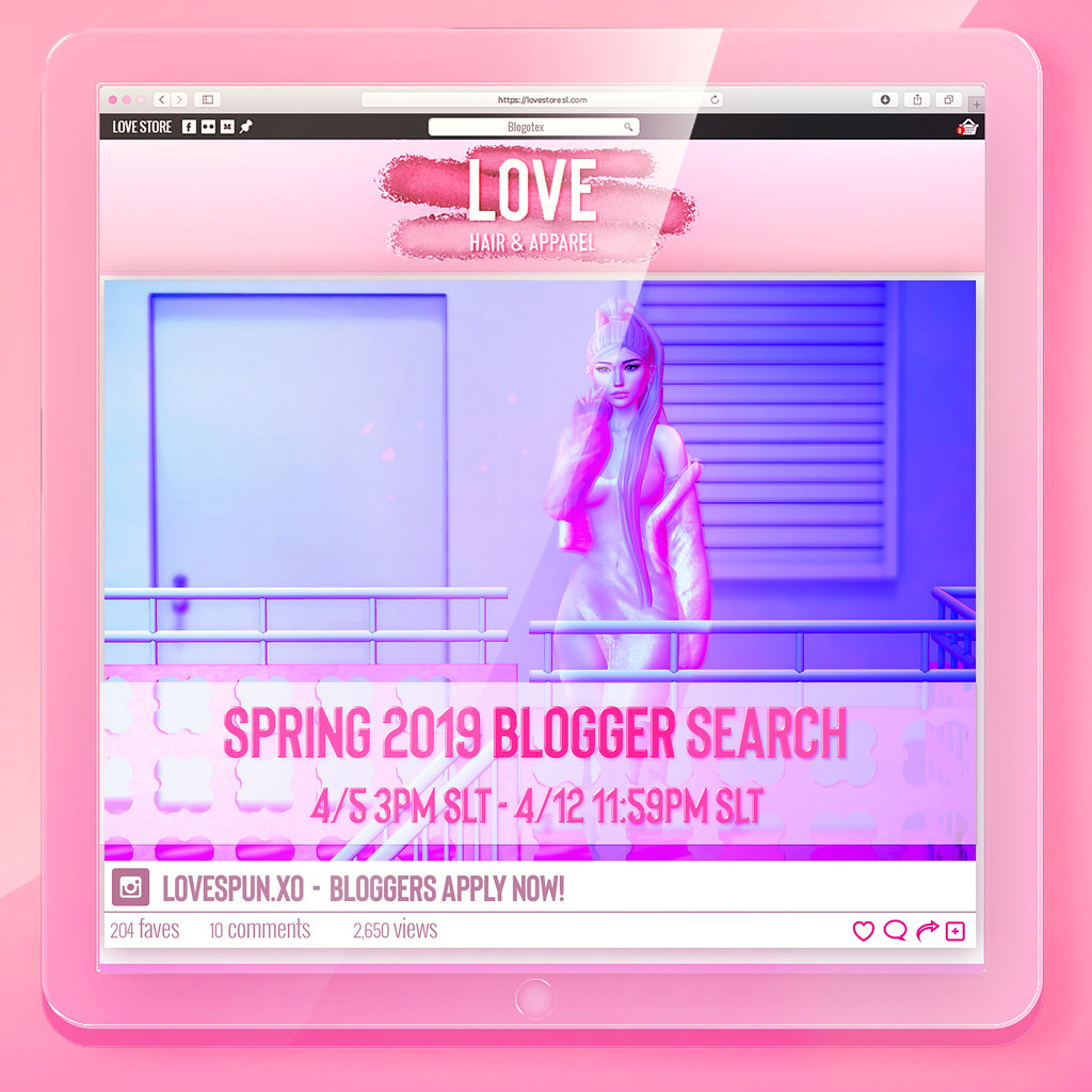 Love [Spring 2019 Blogger Search] Apply Today!