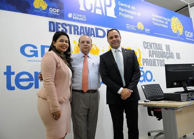 Inauguração dos Postos Avançados da CAP em Taguatinga e Águas Claras