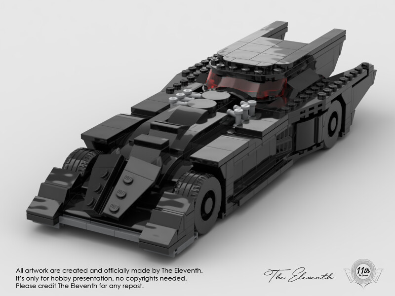 MOC Annual Batmobile 2019, work in progress.