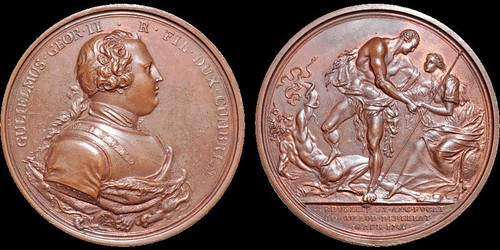 Jacobite Rebellion Battle of Culloden medal2 | by Numismatic Bibliomania Society