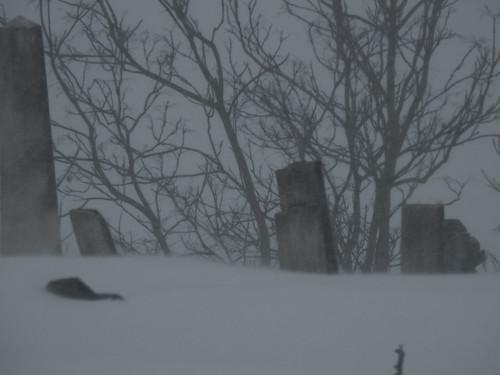 tombstones winter