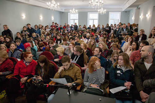 Апр 6 2019 - 13:14 - 6 апреля 2019 года, День открытых дверей в Литинституте. Фото: Арина Депланьи