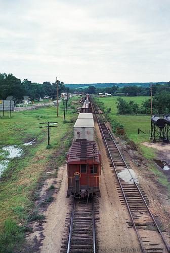 caboose kansascitysouthern kcs lanagan missouri railroad train