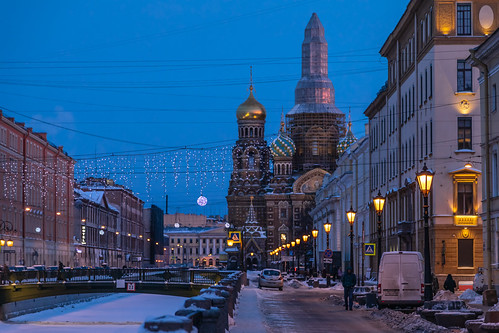 saintpetersburg russia church purple water frost city dome snow morning orthodox sky cross ice sunrise winter old outdoor town cold exterior blue colorful building river cathedral landscape street skyscape nature design architecture style