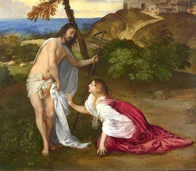 Tizian/Titian/Tiziano, Noli me tangere - Detail