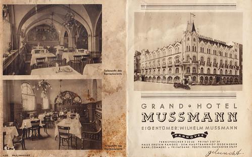 Brochure van Hotel Mussmann