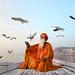 Sadhu on the Ganges by David_Lazar