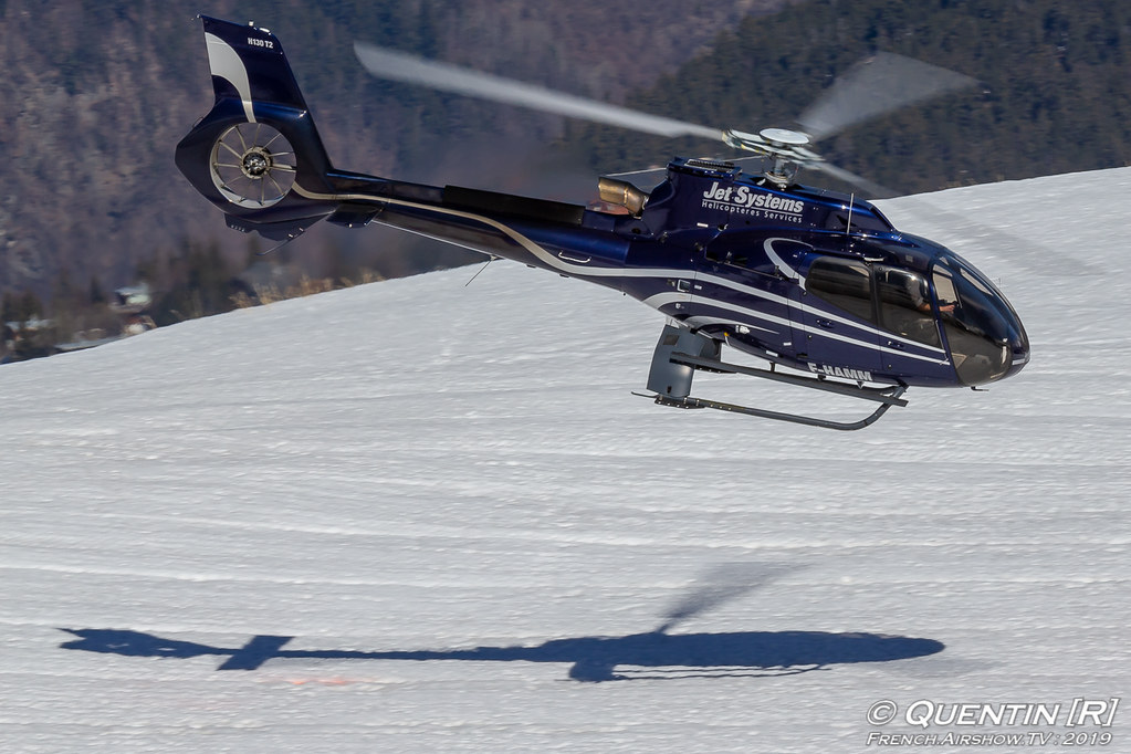Eurocopter EC 130T2 F-HAMM Jet Systems Hélicoptères Service Fly Courchevel Canon Sigma France French Airshow TV photography Airshow Meeting Aerien 2019