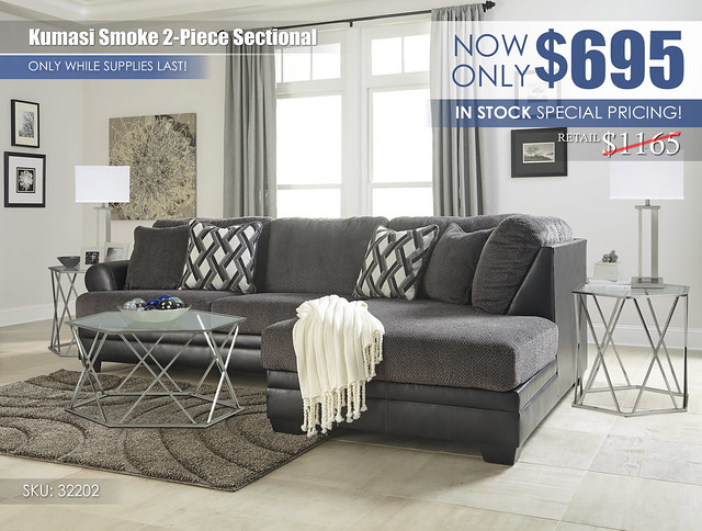 Kumasi Smoke 2PC Sectional_In Stock Special32202-66-17-T015