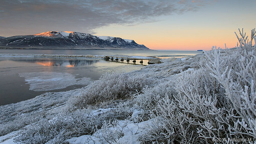 canonef1740 canon5div iceland ísland winter snow colors cold color sunset bridge mountain tindastóll grass tree clouds island friðþjófurm skagafjörður skagafjordur héraðsvötn reflection drangey drángey