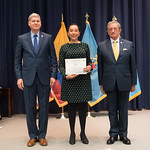 Fri, 03/29/2019 - 14:41 - On Friday, March 29, 2019, the William J. Perry Center for Hemispheric Defense Studies hosted a graduation ceremony for two courses: 'Strategic Implications of Human Rights and Rule of Law' and 'Combating Transnational Threat Networks.' Students from all over the Americas attended the courses from March 18-29, 2019. The graduation ceremony and reception took place in Lincoln Hall at the National Defense University's North Campus at Fort McNair in Washington, DC.