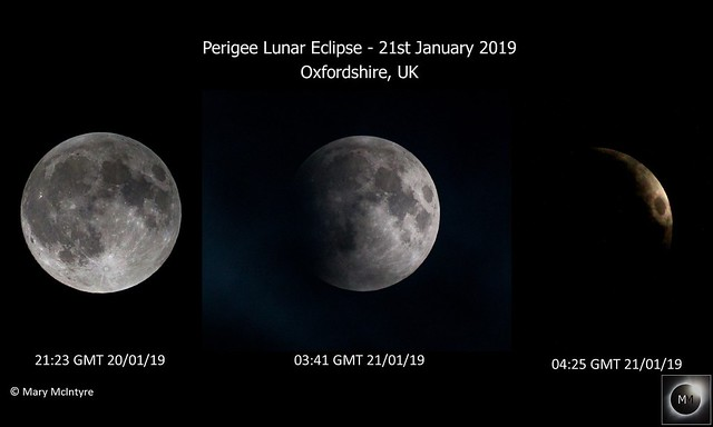 Perigee Lunar Eclipse from Oxfordshire, UK 21/01/19