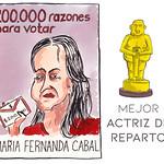 Mejor Actriz de Reparto (de plata por votos): María Fernanda Cabal