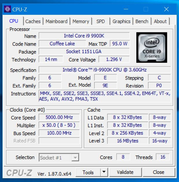 Discussion - i9 9900K Benchmark Tests - First Run | Tom's