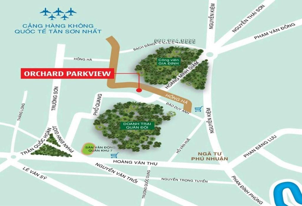Vị trí dự án Orchard ParkView