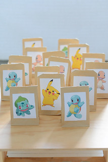Pokemon birthday - Pikachu, Squirtle, Bulbasaur and Charmander surprise bags | by jutta / kootut murut
