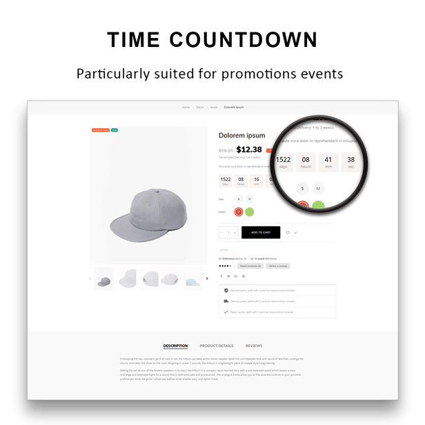 Gucci - shoes Fashion PrestaShop Theme - Time countdown