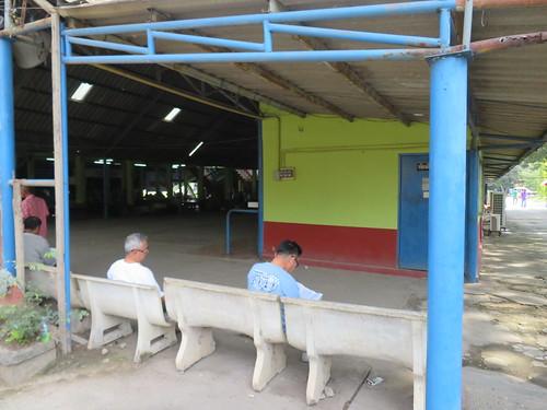 チェンマイ競馬場スタンドの隅の方