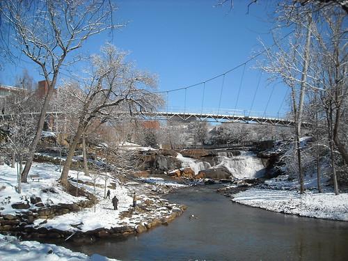 Winter in Falls Park, Greenville, SC