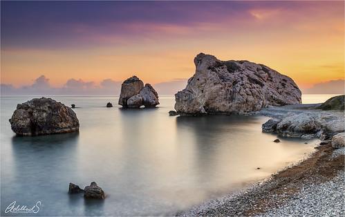 adelheidsphotography adelheidsmitt adelheidspictures cyprus aphrodite aphroditesrock coastline paphos seascape seastacks clouds sky longexposure