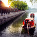 China traditional tourist boats on Beijing