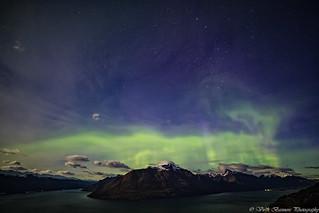 Aurora Australis over Cecile & Walter Peak