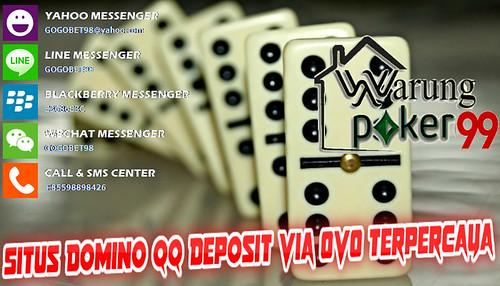Situs Domino QQ Deposit Via OVO Terpercaya   WARUNGPOKER99