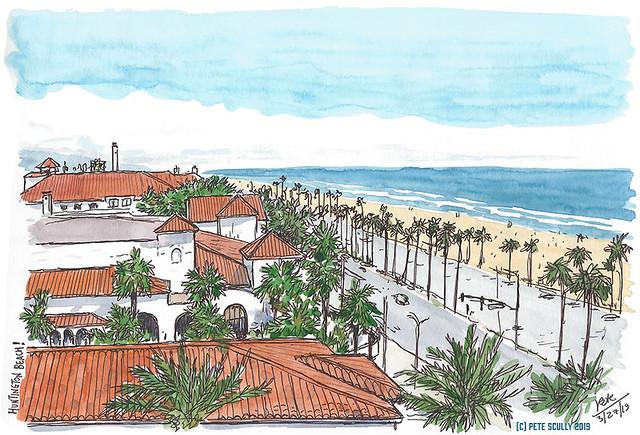 Huntington Beach view from hotel