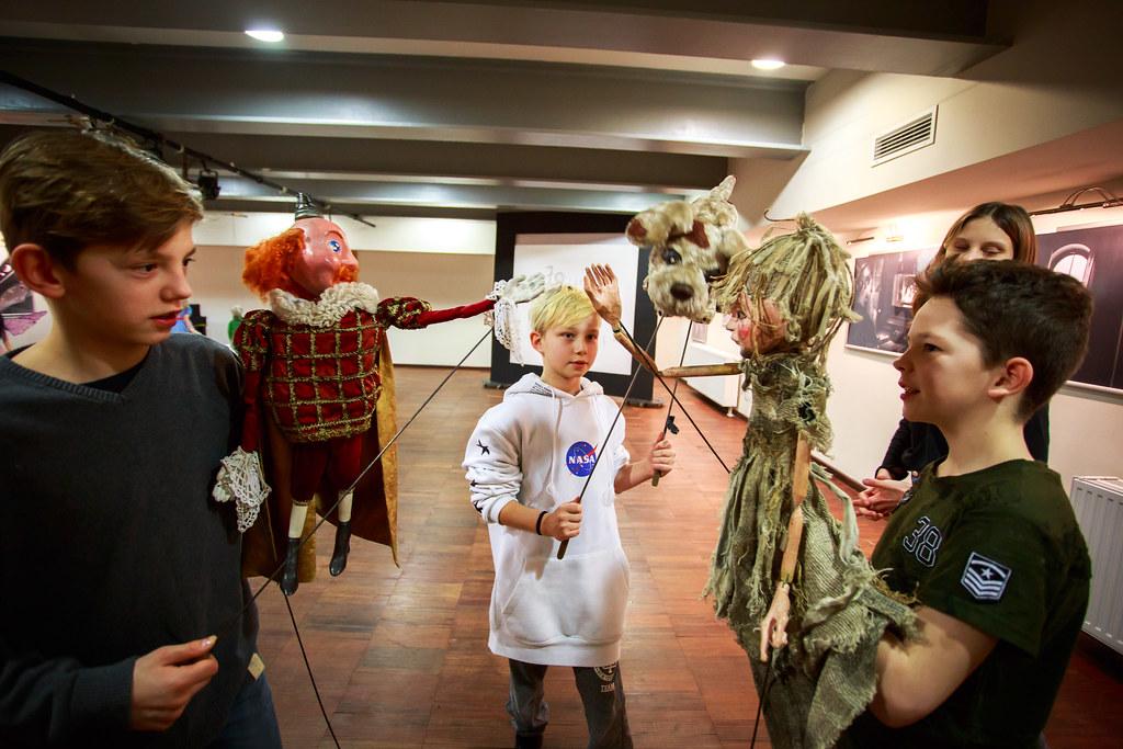 Katarzyna Pałka / Wizyta w Teatrze lalek Arlekin / 21.01.19