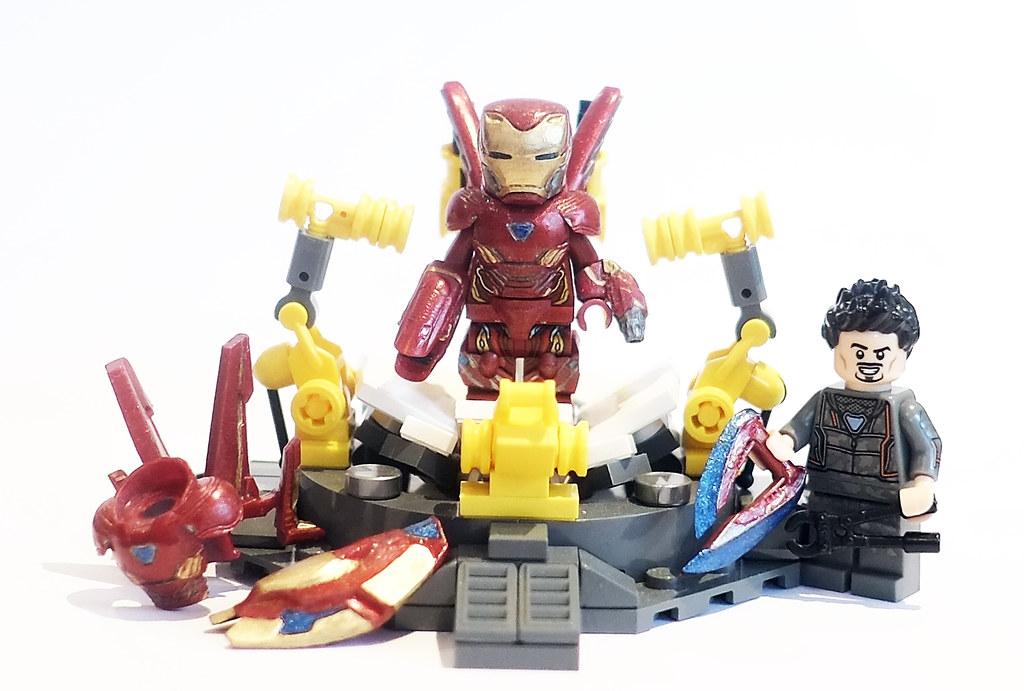 Lego Iron Man Mark 50 With Custom Upgrade KIT