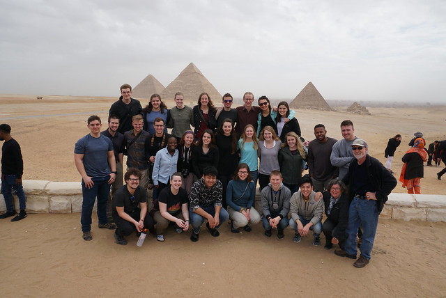 Middle East 2019 group at Giza