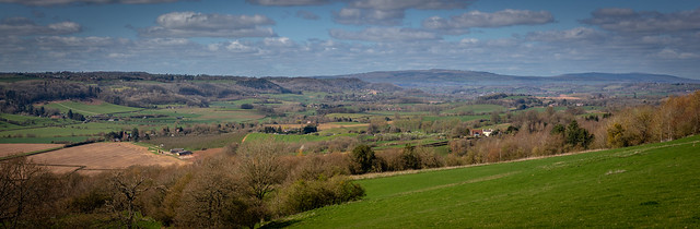 The Teme Valley looking towards the Clee Hills