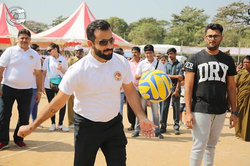 Ramit Ji playing Volleyball