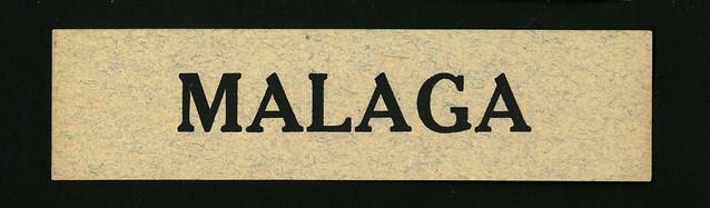 Compagnie Générale Aéropostale, 1927, Destination Label 07, Malaga, front