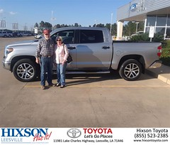 Congratulations Stephen on your #Toyota #Tundra 2WD from Edward Mills at Hixson Toyota of Leesville!