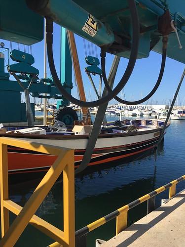 Botadura Galatzó després de la restauració al port. 27 de març.