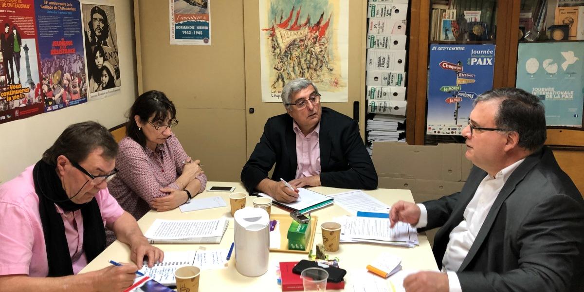 Embajador venezolano en Francia entrevistado por la Asociación Republicana de Veteranos y Víctimas de Guerra
