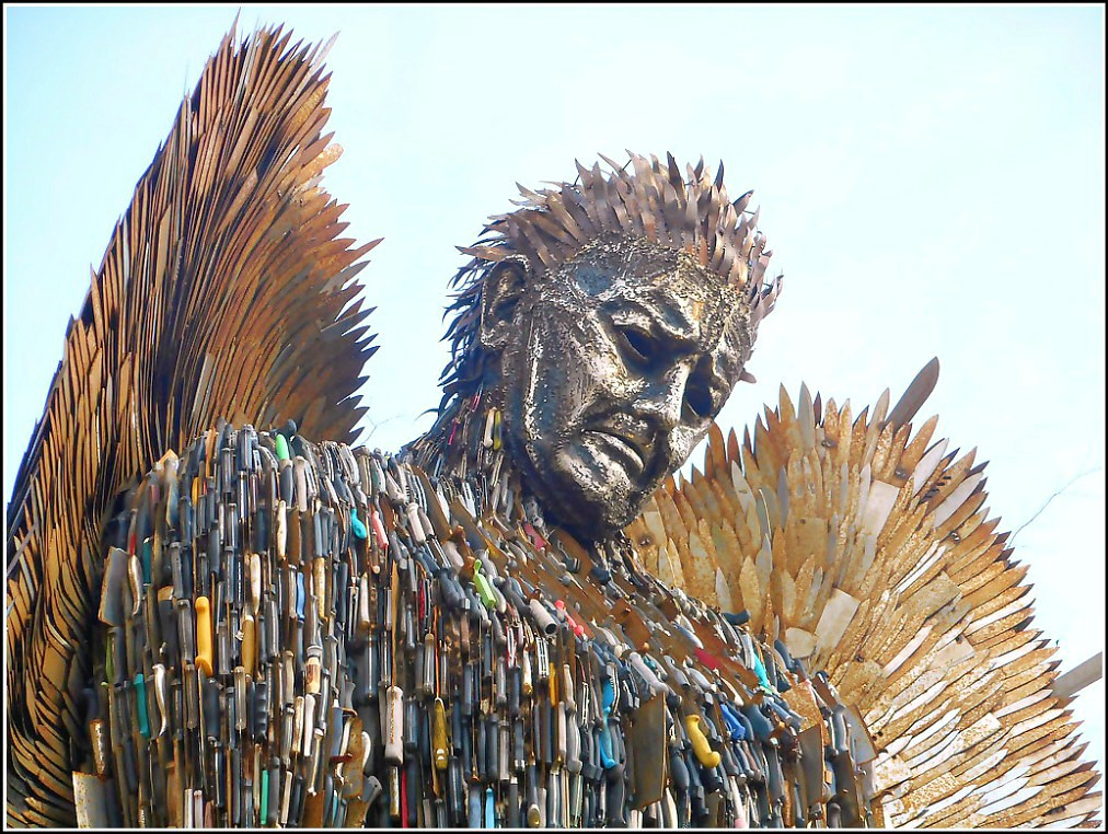 Face of the Knife Angel..